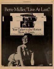 Bette Midler LP advert 1977 RS-XCVK