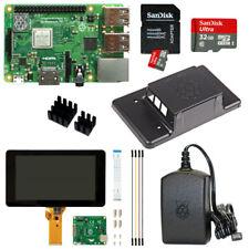 """Raspberry Pi 3 Model B+ (plus) 32GB mit 7"""" mit Touchscreen u. Gehäuse schwarz"""