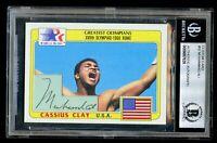 Muhammad Ali #92 signed autograph Topps 1983 Olympic Custom Card BAS Slabbed