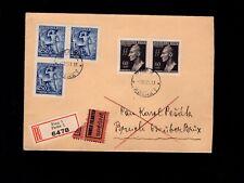 WWII Germany Bohemia Moravia Registered Prag Heydrich Pair Plate flaw 1842  7k