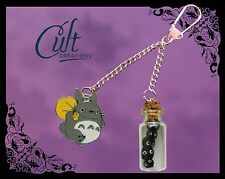 Totoro & soot sprite key chain. Key ring Studio Ghibli.Free UK post