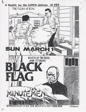 Raymond PETTIBON / Black Flag at the Vex Benefit for the LURCH Defense 1981