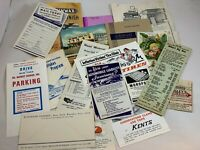 Lot Vintage Paper Ephemera Advertising Brochures Postcard Restaurant World Fair