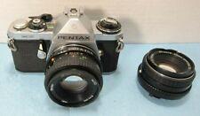 Asahi Pentax ME 35mm SLR 35mm Film Camera + 50mm f/1.8 f/2 SMC Lens - READ
