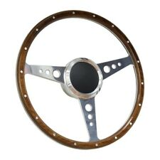 """13"""" Wood Boat Steering wheel with Adapter 3 spoke with 3/4"""" tapered key Marine"""