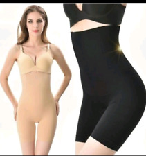 Fitness Womens  Black Belly Control Seamless Bodysuit Size M/L