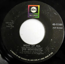 THE MONTEGOS 45 Most Of All / Theme Of A Broken Heart SOUL Ballad ABC c2070