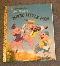 a Little Golden Book Walt Disney's THREE LITTLE PIGS  (2004, hardcover)