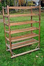 Antique Industrial Shoe Rack / Wine / Bookshelf / Kitchen Hutch / Factory Cart