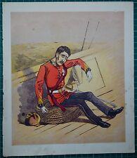 1876 VICTORIAN MILITARY PRINT ~ MARINES ~ COMIC CARICATURE DROLLERIES