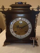 Clockmaker Repaired Warmink Dutch Shelf Clock (Kienzle Hermle Mauthe era)#25