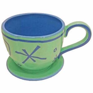 disney parks alice in wonderland mad tea party green tea cup saucer mug new