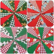 HANDMADE CHRISTMAS FABRIC BUNTING. 29 DIFFERENT DESIGNS.