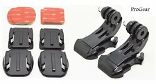 Set of 2 Flat and 2 Curved Mounts With J-Hook Mounts For GoPro HERO 1/2/3/3+/4