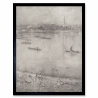 James Mcneill Whistler The Thames Art Print Framed 12x16