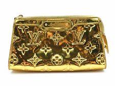 Authentic Louis Vuitton Miroir Cosmetic Pouch Monogram Gold M95604 17043168TC
