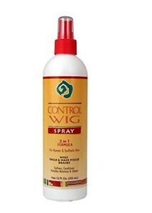 African Essence Control Wig Spray 3 in 1 Formula For Human Synthetic Hair 12 oz