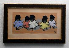Arrigo Wittler (1918-2004) Temperagemälde auf Papier. 5 Kinder, 5 Puppen