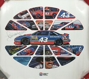 THE KING!! Richard Petty NASCAR Autographed Signed STP 23x26 POSTER Beckett BAS