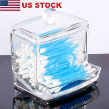 Acrylic Q-tip Holder Box Cotton Swabs Stick Storage Cosmetic Case Househould US
