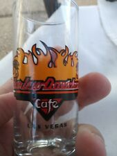 Harley Davidson Cafe Las Vegas Tall Shot Glass with Flame design