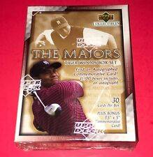 """2002 UD Tiger Woods """"The Majors"""" Set  Tiger Auto Cards Odds are 1 per 100 boxes!"""