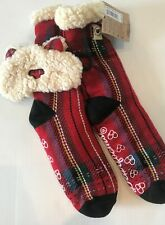 Plaid Bear Sleeping Mask & Warm Slipper Socks Set