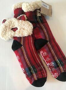 Plaid Bear Sleeping Mask & Warm Slipper Socks Set