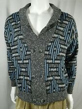 Monte Carlo Made In Italy Lambswool Blend Cardigan Sweater Mens Size 52