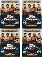 (4) 2019 Topps UFC CHROME MMA Trading Cards 7+1 Bonus Pack VALUE/BLASTER Box LOT