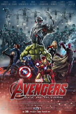 "017 Age of Ultron - Iron Man Captain America Hulk Movie 24""x36"" Poster"