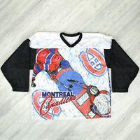 Vintage NHL Montreal Canadiens Fanimation CCM Maska Hockey Jersey Mens Sz L/XL