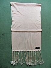 Gents' fine knit long pink Kilgour silk scarf made in Italy