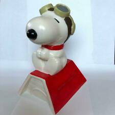 PEANUTS Snoopy on Dog House Piggy Bank Soft Vinyl H20cm Vintage good condition