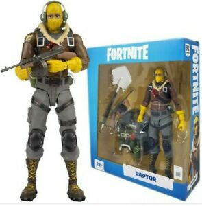 EUC FORTNITE RAPTOR 1st wave action figure no box with complete accessories
