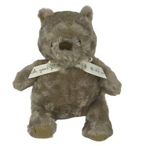 "Disney Baby Winnie The Pooh Classic Plush Toy Stuffed Fluffy Tan Brown 12"""