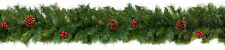 Natural Christmas Garland Decoration Red Berries & Pine Cones 2.7 metres