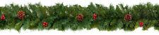 Natürlich Weihnachten Girlande Dekoration Rot Pimentkörner & Tannenzapfen 2.7