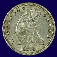 Seated Liberty Silver Quarter. 1876 P Choice AU. Lot # 9012-349-25