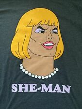 He-Man She-Man Prince Adam T Short MOTU, New, Mens Large, Next Level Poly Cotton