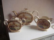3 services à thé faience ancienne anglaise signé  Sadler