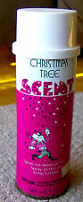 vintage 1960s GRAPHIC TIN Christmas Tree Scent SPRAY CAN Lidco GROOVY MASCOT