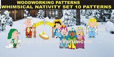 WHIMSICAL NATIVITY SET YARD ART, CHRISTMAS WOODWORKING 10 PATTERN IN SET PLAN