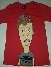 Stussy × Beavis and Butthead MTV t shirt small original 2011