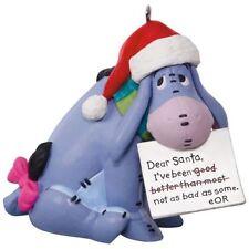 2017 Hallmark Eeyore Letter to Santa Disney Winnie the Pooh Ornament