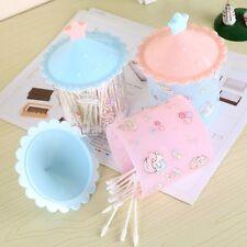 Cute Cosmetic Makeup Case Q-tip Storage Holder Cotton Pad Swab Box Organizer