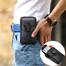 Classic Cell Phone Holster Pouch Pu Leather Waist Bag Belt Loop Wallet Case