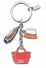 NEW Coach 65743 Purse Hat Shoe Charms Key Ring Key Fob