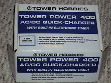 TOWER HOBBIES TOWER POWER 400 AC/DC QUICK CHARGE W/BUILT IN ELECTRONIC TIMER