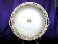 2 Handled NIPPON Serving Bowl with Rose Pattern and Gold Leafing